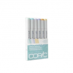 Sketch Marker Set - 6 Pale Pastels