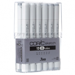Sketch Marker Set 12 Cool Grey